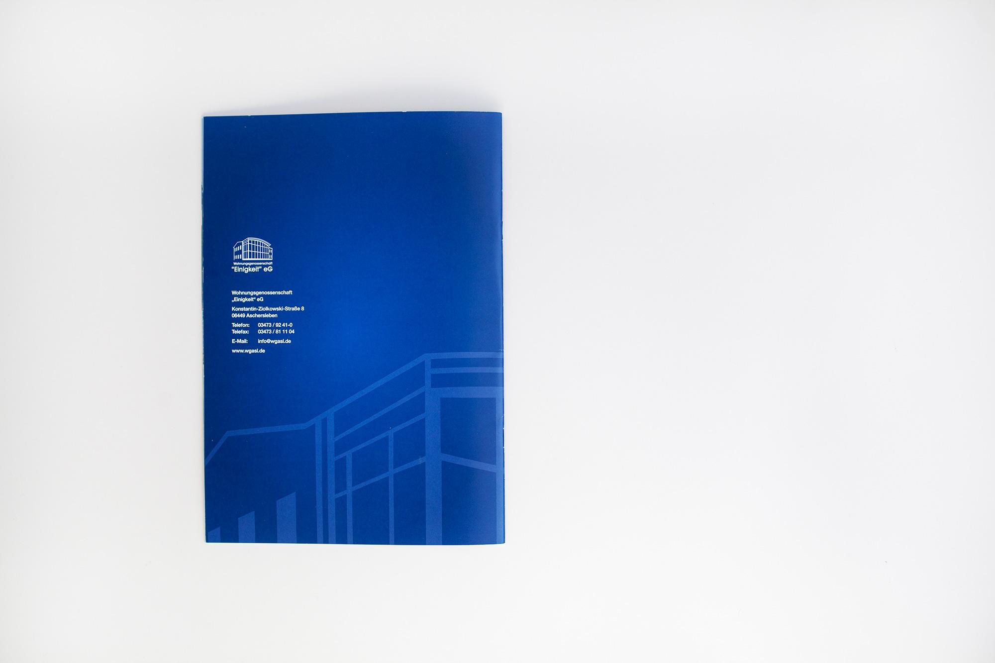 """Imagebroschüre – Wobau """"Einigkeit"""" eG Aschersleben"""